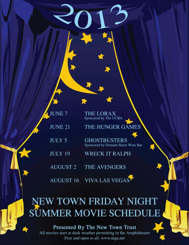 New Town Summer 2013 Movie Schedule