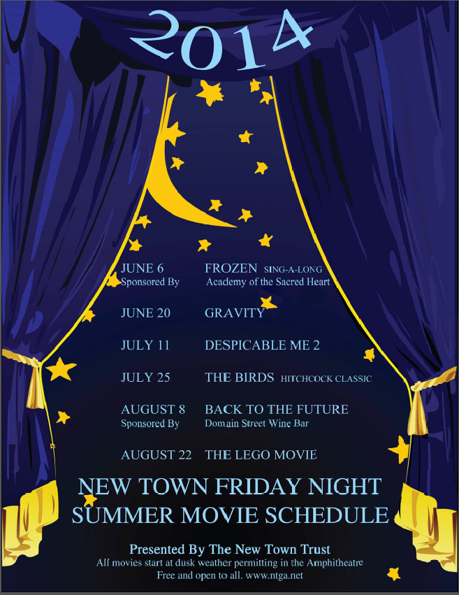 New Town 2014 Movie Schedule